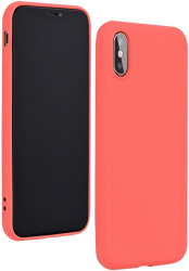 forcell silicone lite back cover case for iphone 12 pro max pink photo