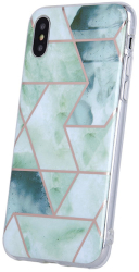 geometric marmur back cover case for iphone 12 pro max 67 green photo