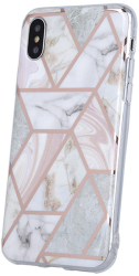 geometric marmur back cover case for iphone 12 pro max 67 pink photo