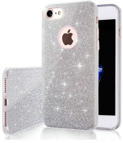 glitter 3in1 back cover case for iphone 12 pro max 67 silver photo