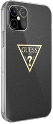 guess iphone 12 mini 54 guhcp12spcumptbk black hard back cover case metallic collection photo