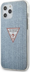 guess iphone 12 pro max 67 guhcp12lpcujullb light blue hard back cover case triangle collection photo