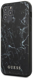 guess iphone 12 pro max 67 guhcp12lpcumabk black hard back cover case marble photo