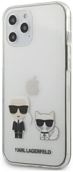 karl lagerfeld original faceplate back cover case klhcp12lcktr iphone 12 pro max transparent photo