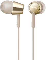 sony mdr ex155apn stereo headset gold photo