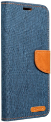 canvas book flip case for apple iphone 12 pro max navy blue photo