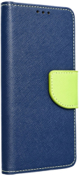 fancy book flip case for iphone 12 mini navy lime photo