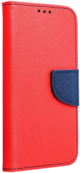 fancy book flip case for iphone 12 mini red navy photo