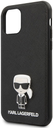 karl lagerfeld original faceplate back cover case klhcp12sikmsbk iphone 12 mini black photo