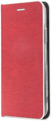 luna book silver flip case for iphone 12 12 pro red photo
