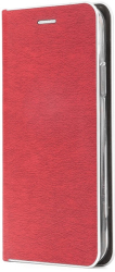 luna book silver flip case for iphone 12 mini red photo