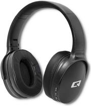 QOLTEC 50851 WIRELESS HEADPHONES WITH MICROPHONE SUPER BASS DYNAMIC BT BLACK