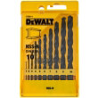 set 10 tem dewalt trypania metalloy hss r din 338 f1 10 kasetina dt5911 photo
