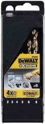 set 6 tem dewalt trypania kobaltioy extreme hss co f2 8mm dt4956 photo