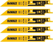 set 5 tem lames segatsas dewalt bi metal diples 14 18mm 152mm dt2417 photo