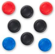 silicon thumb grips universal 8pcs colour 4pcs black 2pcs red 2pcs blue photo